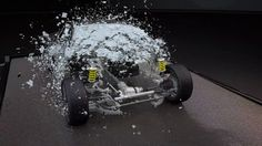 thinking particles glass fracture of car   Just quick texture and send to farm for a nice looking test.