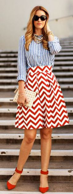 Red Chevron by A Little Dash Of Darling