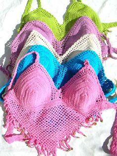 Free+Crochet+Halter+Dress+Pattern   Crochet Halter Top Patterns Moss ༺✿ƬⱤღ  https://www.pinterest.com/teretegui/✿༻