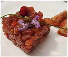 VINO, GASTRONOMIA Y VIAJES (Entre Fogones y Gin Tonics): Tartar de atún rojo y tomate raf