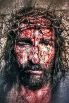 """The Holy Face of Jesus from """"Passion of the Christ"""" Jesus Face, My Jesus, King Jesus, La Passion Du Christ, Catholic Doctrine, Catholic Religion, Jesus Christus, Daughters Of The King, Eucharist"""