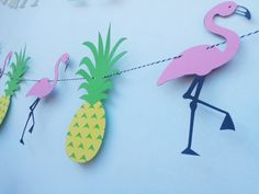 Flamingo And Pineapple PARTY Fun Birthday  por EMTsweeetie en Etsy