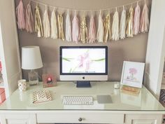 pretty work spaces | My Pretty Workspace: All Things Pretty Office Makeover