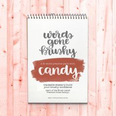 Use these Brush Lettering quotes and words created as guides for practicing with words will help you with letter spacing and letter connections. And it's definitely more fun with a theme! affiliate link