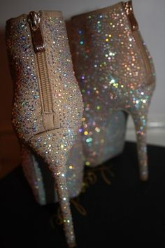 Choo- My mouth dropped when I saw these fabulous shoes! #glitterboot #sparkleglam