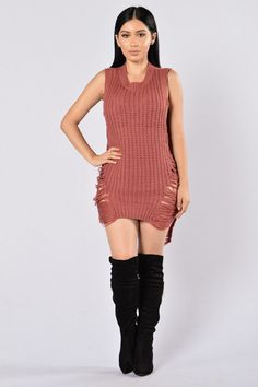 Stay In Sweater - Mauve $29.99