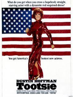 Dustin Hoffman Tootsie American Flag Movie Legendary Actor Printing wall poster