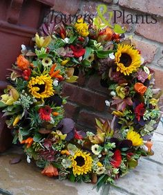 This beautiful wreath was labeled for a funeral.  I think it would be beautiful anytime.