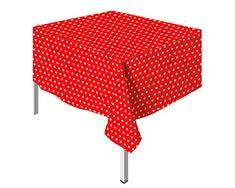 Polka Rojo Mantel Peva Outdoor Furniture, Outdoor Decor, Minnie Mouse, Ottoman, Home Decor, Celebrations, Tablecloths, Globes, Red