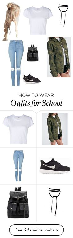 """LAST DAY OF SCHOOL"" by kingevanizzl on Polyvore featuring Topshop, NIKE and RE/DONE"