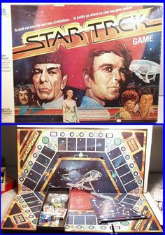 Vintage 1979 STAR TREK Board Game by Milton Bradley, 1st EDITION! Spock & Kirk