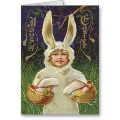 Girl Easter Bunny Costume Basket Colored Egg