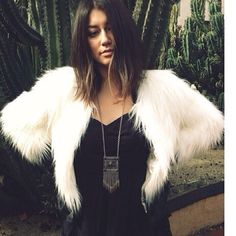 White faux fur cropped jacket White cropped faux fur coat brand new Jackets & Coats