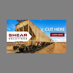 Designed and out-of-the-box, custom design, non-animated, for LinkedIn Banner Ad for Shear Solutions. The Banner Ad are to promote the service on LinkedIn. Linkedin Banner, Train Car, Custom Design, Animation, Concept, Ads, Learning, Studying, Teaching