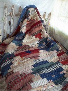 Beautiful quilt. Patriotic colors!