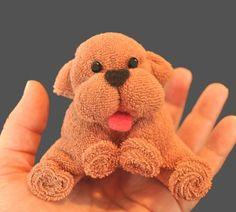Washcloth Puppy Instructional Video.  Daaaarling!!!!