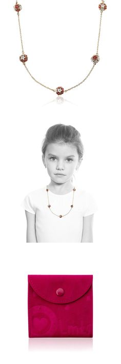 Mixed Lots 164208: Lmts Girls Cz And Red And White Color Enamel Balls On 14K Gold-Plate Chain Necklace BUY IT NOW ONLY: $44.5