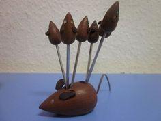 Danish modernist TEAK mouse family era Lonborg Bolling Bojesen 50s mid-century