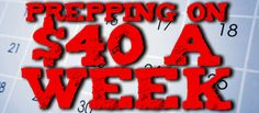 TEOTWAWKI Blog: Preparing on $40 a Week: Last Week & Index!