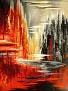 """Buy """"Surreality Show"""", an Acrylic Painting on Canvas, by Tatiana Iliina from Can. - Painting Ideas On Canvas Simple Acrylic Paintings, Acrylic Painting Techniques, Acrylic Painting Canvas, Abstract Canvas, Canvas Art, Abstract Paintings, Original Paintings, Buy Canvas, Art Paintings"""