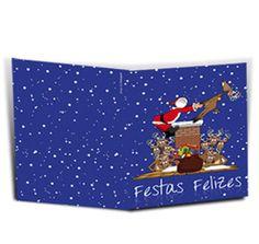 Postal de Natal - 29 x 21cm  (aprox. A4 aberto / A5 fechado);   Características :: Cor azul;    Inclui envelope branco;  Papel Digital 250 gramas;   Impressão a Laser Digital XEROX;  Exterior :: Tema Natal, Festas Felizes;   Interior :: Personalizado com a sua   foto e Texto  http://www.fotosport.pt/gca/coleccoes/natal/cartoes-de-boas-festas