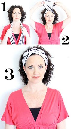 how to make a turban headband out of old t-shirts...super easy and cute!!!