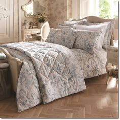 Dorma Woodville Bedding Set - Elegant and scrolling, this French toile pastoral scene, both playful and timeless is inspired by a stunning design from our Vintage archives.