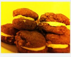 Mini Pumpkin Whoopie Pies - 1 net carb per pie