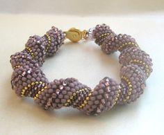 Mauve Beadwoven Bracelet