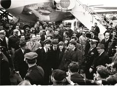 Beatles by Ken Regan, 1964 The Beatles first trip to the U.S. arriving at JFK in February