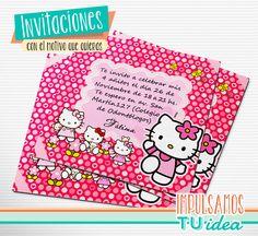 Hello Kitty - Tarjetita para imprimir