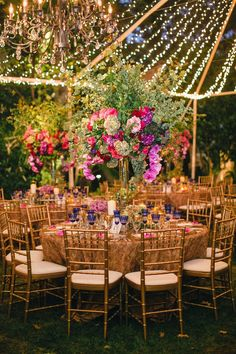 Twinkle Light Tent Wedding at Night Photography: Mi Belle Photographers Read More: http://www.insideweddings.com/weddings/colorful-outdoor-wedding-with-supper-club-theme-in-los-angeles-ca/741/
