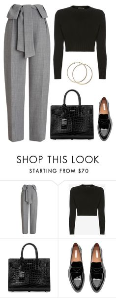 """""""Untitled #536"""" by kamication ❤ liked on Polyvore featuring Whistles, Alexander McQueen and Yves Saint Laurent"""