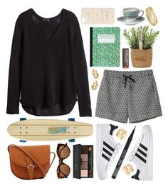 """""""Sector nine"""" by sophiehackett ❤ liked on Polyvore featuring H&M, Monki, Wedgwood, Sector 9, Illesteva, Bobbi Brown Cosmetics, Kate Spade, Jules Smith and Maison Margiela"""