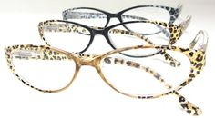 Feline clear readers in animal print - See what's new at Debspecs.com!