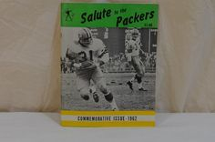 1962 Green Bay Packers Commemorative Issue Jim Taylor Bart Starr Rare Program #GreenBayPackers