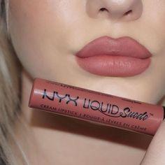 """Nyx cosmetics """"soft spoken"""" liquid suede lipstick @KortenStEiN"""