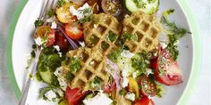 Falafel Waffles - GoodHousekeeping.com - these were good, definitely want to try making again, the whole family liked it :D