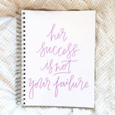 Favorite Reminder {Her success is not your failure via POPPYjack SHOP}