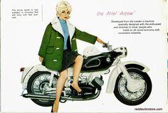 Red Devil Motors: Ariel Leader and Arrow brochure 1961 Vintage Bikes, Vintage Cars, Motorcycle Posters, British Motorcycles, Super Sport, England, Ariel, Motorbikes, Brochures