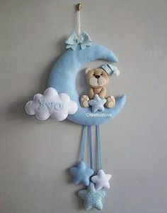 38 Ideas For Crochet Kids Room Decor Crib Mobiles 38 Ideas For Crochet Kids Room Decor Crib Mobiles Baby Crafts, Felt Crafts, Diy And Crafts, Crafts For Kids, Diy Bebe, Baby Sewing Projects, Baby Crib Mobile, Felt Baby, Felt Decorations