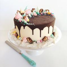Snickers cake with Persian fairy floss from Marguerite Cakes