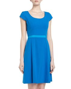 Marc New York by Andrew Marc- Two-Tone Fit & Flare Dress $99