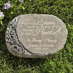 memorial garden personalized garden stone pinterest thoughts