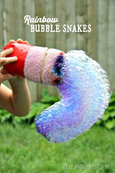 DIY Rainbow Bubble Snakes - Top 50 DIY Summer Crafts Try to Make and Fun - DIY & Crafts
