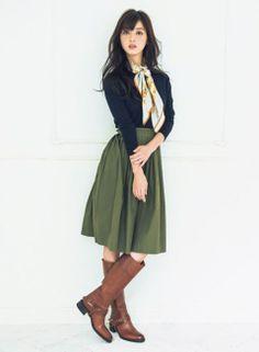 こなれコーデの相棒はトラッド顔の乗馬ブーツ | ファッション コーディネート | with online on ウーマンエキサイト