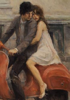Imagem de love, art, and couple Renaissance Paintings, Renaissance Art, Romance Art, Arte Obscura, Classical Art, Old Art, Pretty Art, Portrait Art, Aesthetic Art