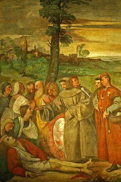Healing of the Wrathful Son, Tiziano  Padova      TIZIANO Vecellio (Pieve di Cadore, 1480/1485 – Venezia, 27 agosto 1576)  #TuscanyAgriturismoGiratola