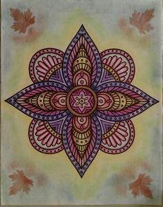 Revista floresta mística  Mandala de flor