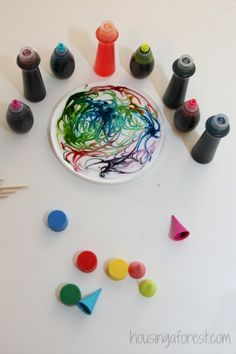 Painting On Wet Glue ~ beautiful and easy way to make a DIY sun catcher